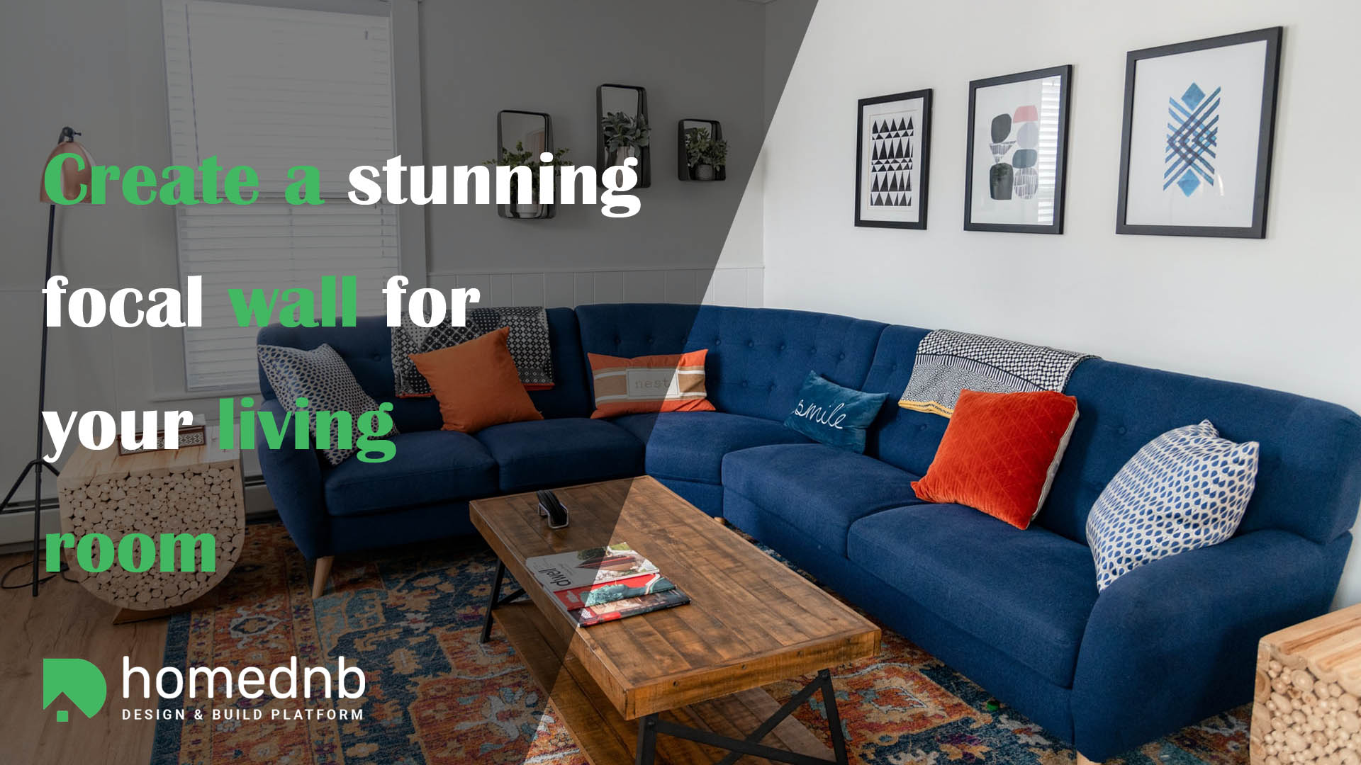 Create a stunning focal wall for your living room