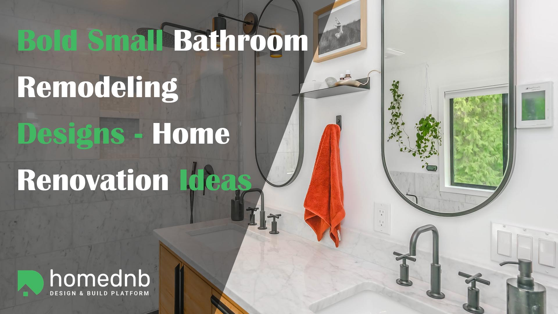 Bold Small Bathroom Remodeling Designs