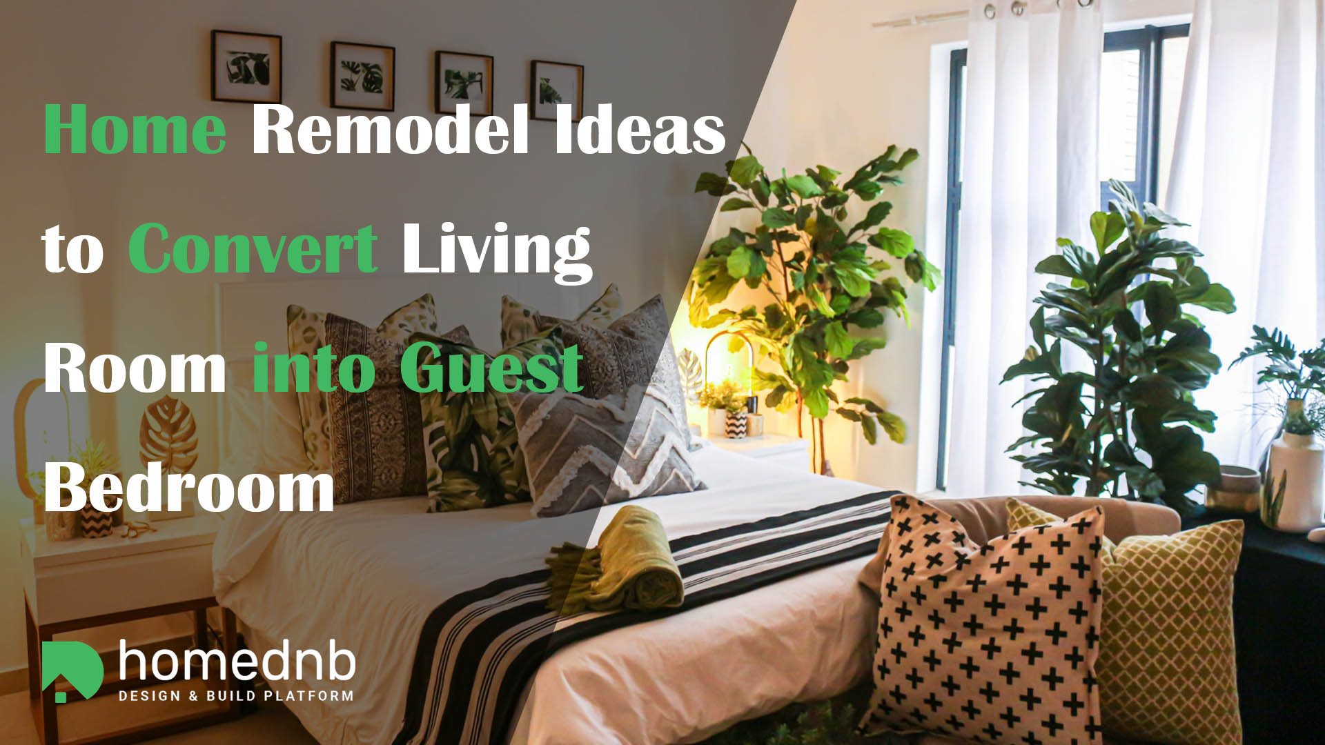 Home Remodel Ideas to Convert Living Room into Guest Bedroom